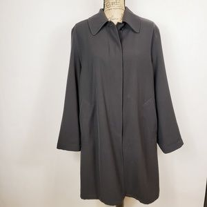 Allegri black trench coat